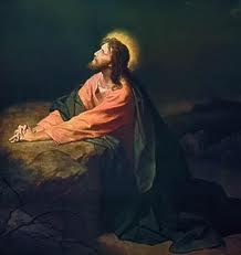 Jesus praying 005